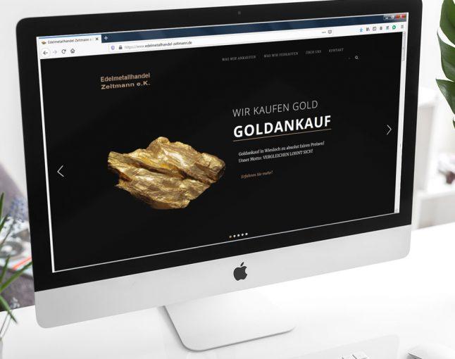 Webdesign | Edelmetallhandel