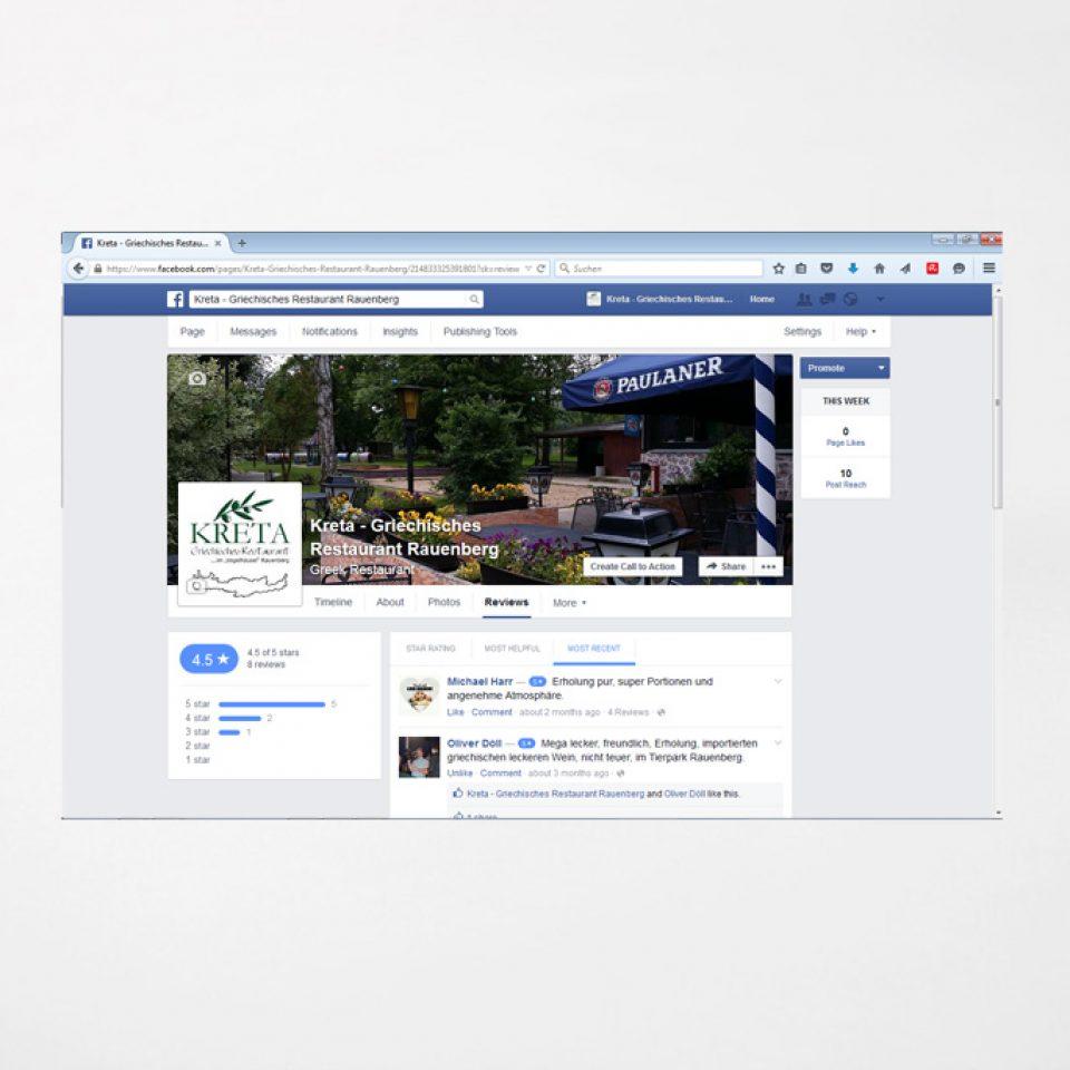 Social Media | Facebook Restaurant Kreta