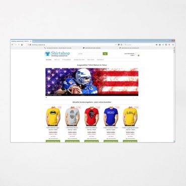 E-Commerce | shirtshop-wiesloch.de